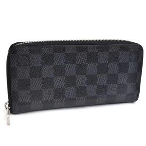 Auth Louis Vuitton Graphite Zippy Organizer/Wallet